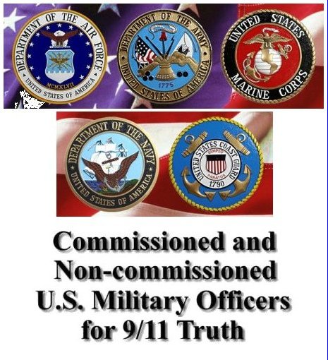 Click here to go to the 'Commissioned and Non-Commissioned U.S. Military Officers for 9/11 Truth' website!